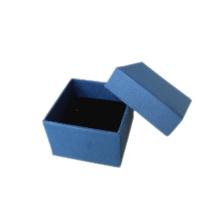 Caja de anillo de joyería de papel de espuma azul oscuro (PB-RB1)