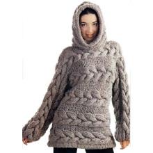 Пользовательские 100% рука вязать женщин свитер кардиган пуловер пальто одежды