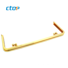 Fashion hardware accessories custom gold kiss clasp wallet box metal purse frame for purse purse frame hardware