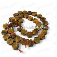 Tigereye gemstone star Beads