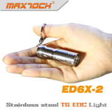 Maxtoch ED6X-2 EDC Cree T6 acero inoxidable Mini LED llavero linterna