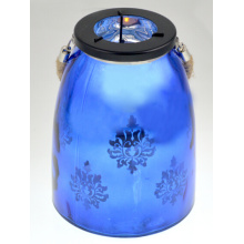 2015 Glass Lantern in Blue