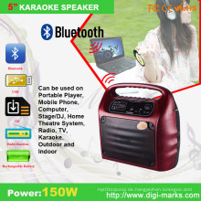 Modische Karaoke tragbare Bluetooth FM-Lautsprecher
