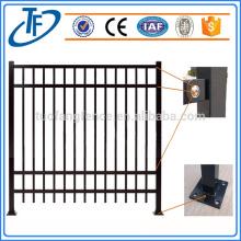 Australia market powder coated black security picket fence garrison fence