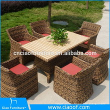 Modern 6 Seats Table And Chairs Used Rattan Wicker Furniture