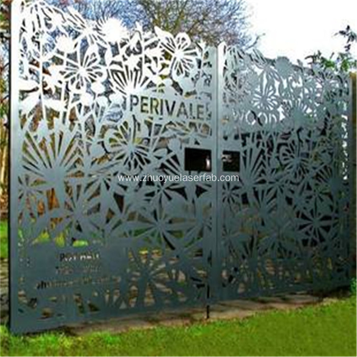 Customized Steel Laser Cut Outdoor Metal Screen