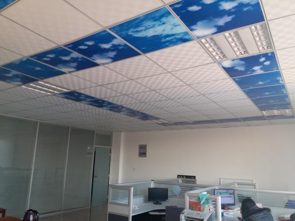 Ceiling Panel Heater on ceiling in office