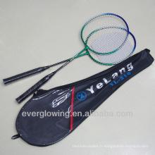 2015 nouvelle arrivée Wholrsale noir et vert fer XL210 spécialisé raquette de badminton