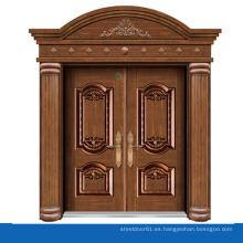 Puerta doble exterior Arca barata imitación bronce