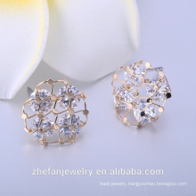 Natural blue sapphire gemstone jewelry supplier earrings