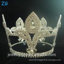 Fashion Design Diamond Round Pageant Tiara crowns for men bridal tiara