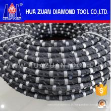 Serra de fio de corte de diamante com revestimento de borracha para pedreira