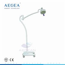 Piso móvil que se coloca la luz quirúrgica del examen paciente con las ruedas