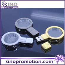Vergrößerungsglas Gold und Silber 128GB Flash Drive