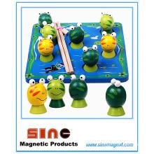Jouet de grenouille de pêche magnétique en bois / jouet éducatif