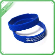 Custom Fashion Design New Style Colorful Silicon Wristband for Wholesale