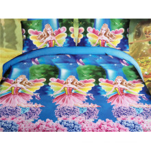 The girl loving pink fairy in the flowering shrubs design peach colored comforter sets