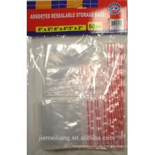 JML opp bolsa de embalaje de plástico resellable para alimentos de buena calidad