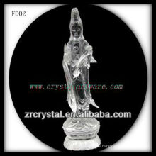 K9 Crystal Hand Sculpted Goddess of Mercy