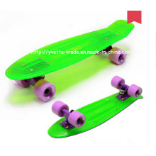 Skateboard with PC Transparent Deck (YVP-2206-3)