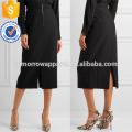 Новая мода черный гибкий Hopsack лето мини юбка ежедневно дем/дом Производство Оптовая продажа женской одежды (TA5001S)