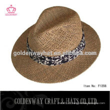Angelica Straw Boater chapeau panama avec ruban à vendre pour homme
