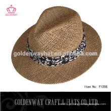Angelica Straw Boater chapéu panama com fita para venda para homens