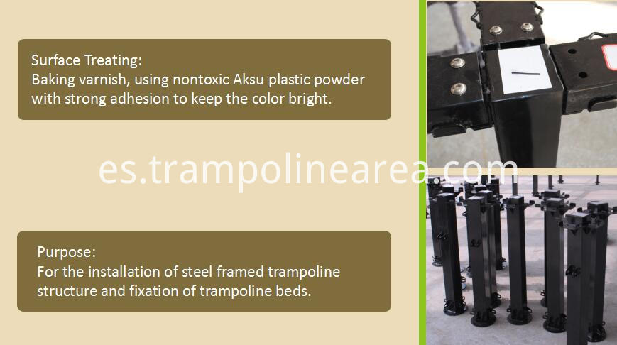 steel parts of stratosphere trampoline park