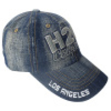 Washed Jeans Cap mit Logo # 12