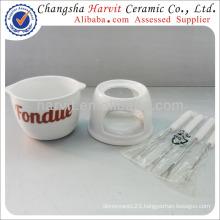 Customized Ceramic Chocolate Fondue Set