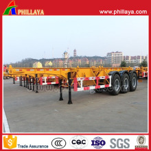 3 Axles Heavy Duty 40FT Container Semi Truck Trailer Chassis