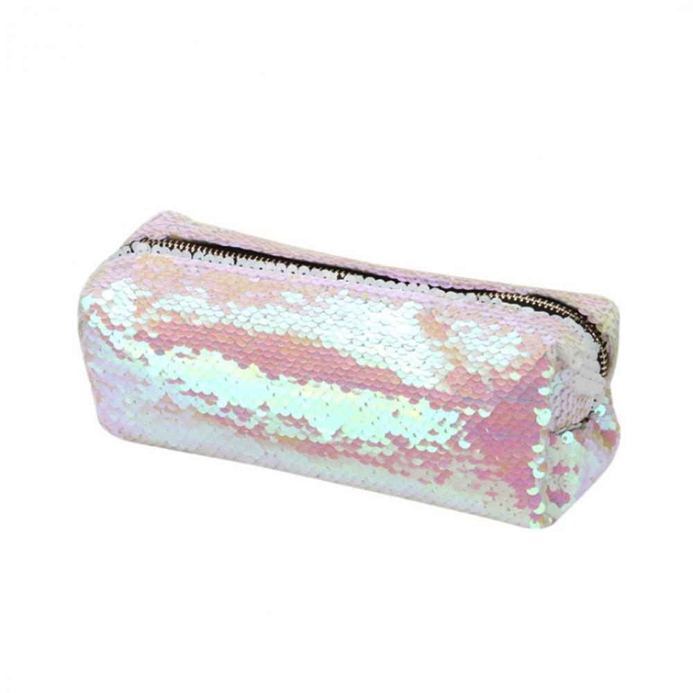 Double Color Bling Sequin Pencil Case 2