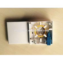 FTTH tool wall mounted fiber face plate 86*86 type Fiber Optic Cable Termination box,indoor fiber optic small box with 2 port