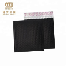 High-end Design Strong Sealing Matte Black Metallic Foil Custom Frosted Bubble Mailer Bags