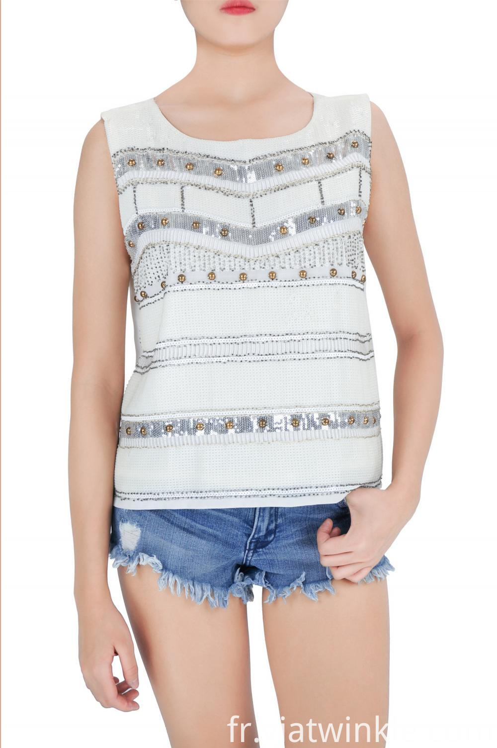 Party Sequin Tank Top