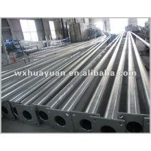 Poteaux en acier tubulaire galvanisé