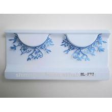 2016 hot design false fake paper eyelashes for wholesale with glue free kits