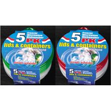 Recipiente para alimentos microondas de plástico redondo para levar para fora 9.5oz