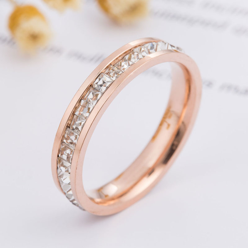 Rose Gold Ring Cubic Zirconia