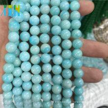 Pedras Preciosas De Jóias Semi Preciosas Beads 8mm Natural Liso Redondo Tipo Pedras Preciosas De Amazonita