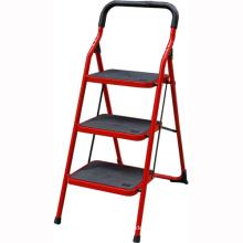 Escalera doméstica plegable de acero inoxidable, escalera de acero plegable, escalera de mano con pasamanos de seguridad