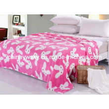Hermoso estampado Coral Fleece Blanket Rabbit Design