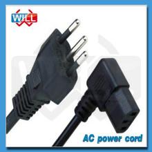 Cordon d'alimentation secteur standard de haute qualité de 3 pin 250V brésil