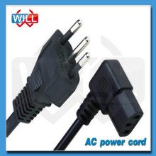 High quality 3 pin 250V brazil standard ac power cord