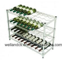 Adjustable K/D Metal Chrome Wine Rack Shelf for Hotel/Restaurant (WR903590A4C)