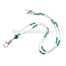 Handmade ID Card Holder Tiger Eye Beaded Lanyard Jewelry Beaded Lanyard