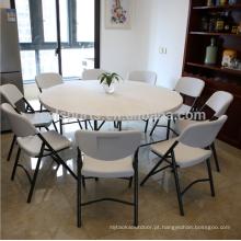 Nova tabela de design moderno mesa de plástico dobrável