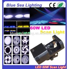 Дешевый мини-вечеринка для дискотеки dj эффект 60w gobo dmx led scanner light