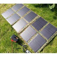 Bolso plegable del cargador de la energía solar del dispositivo móvil grande de 100W usado en la radio del ejército