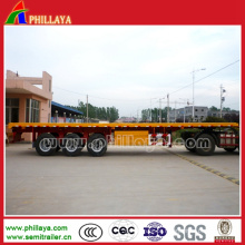 Reboque Semi Flatbed do transporte do recipiente Heavy Duty